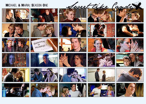 Roswell wallpaper entitled michael & maria