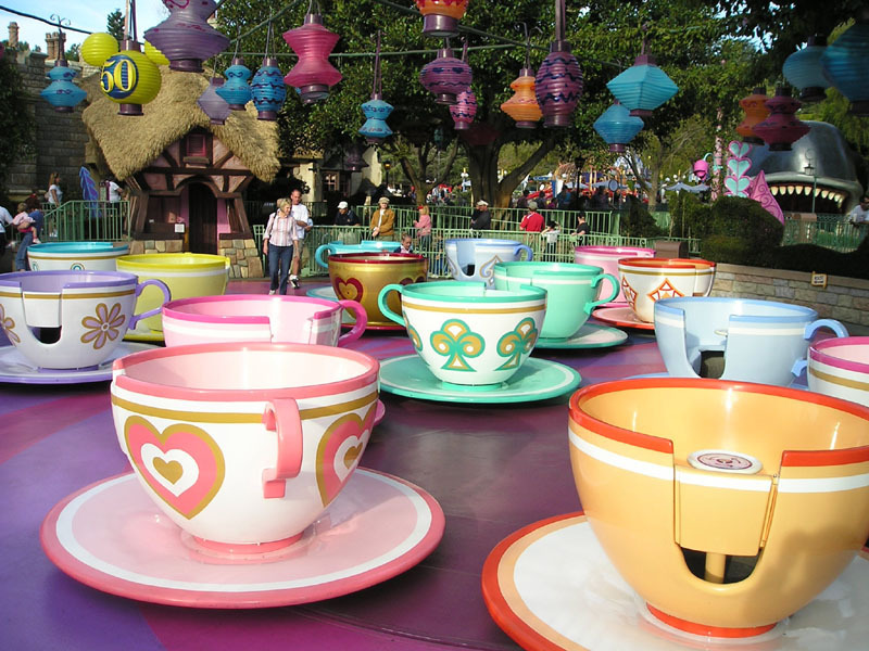 Disneyland Rides Background Resort Images Spinning Tea Cup