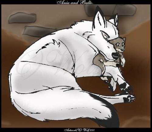 serigala goddess and pup