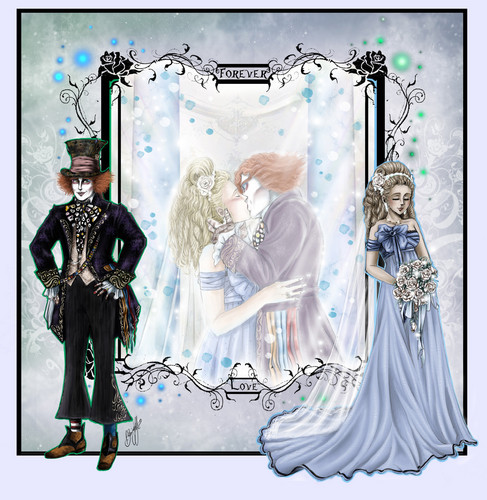 *~*Wedding Pic*~* Fanfiction Illustration - From this moment...*~*// AliceXMadHatter