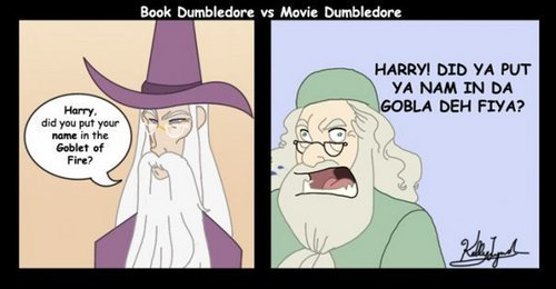 Book Dumbledore vs. Movie Dumbledore - albus-dumbledore Fan Art