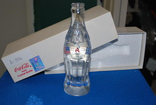 Crystal Coca Cola Bottle olympics 1996