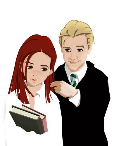 Draco and Ginny wallpaper titled D/G
