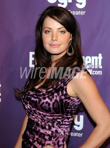 Erica Durance at the EW Syfy Comic-Con party