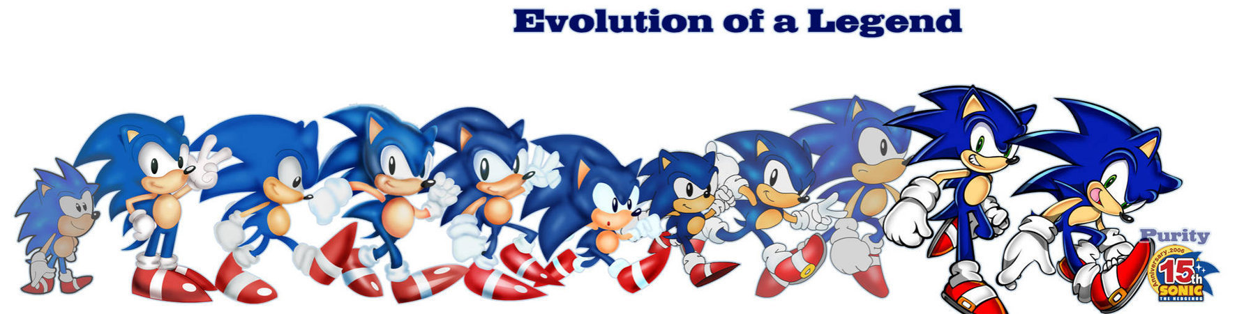 Evolution-of-The-Legend-Sonic-sonic-fore