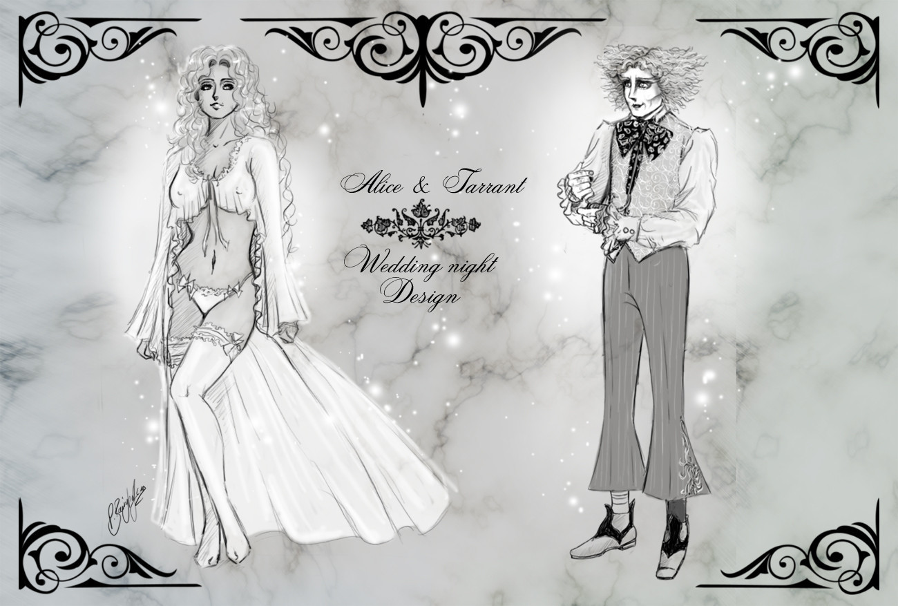 Fanfiction Chara-Design - [Spoiler!] *~* wedding night style *~* AliceXMadHatter-Lineart