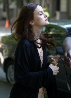 Gossip Girl Leighton Meester on set July 26th