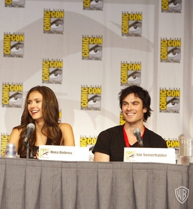 Ian & Nina @ Comic-Con - ian-somerhalder-and-nina-dobrev Photo