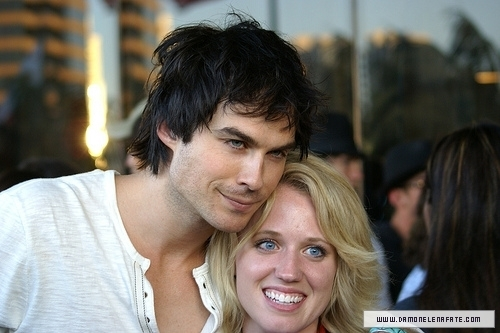 Ian with fans Comic con
