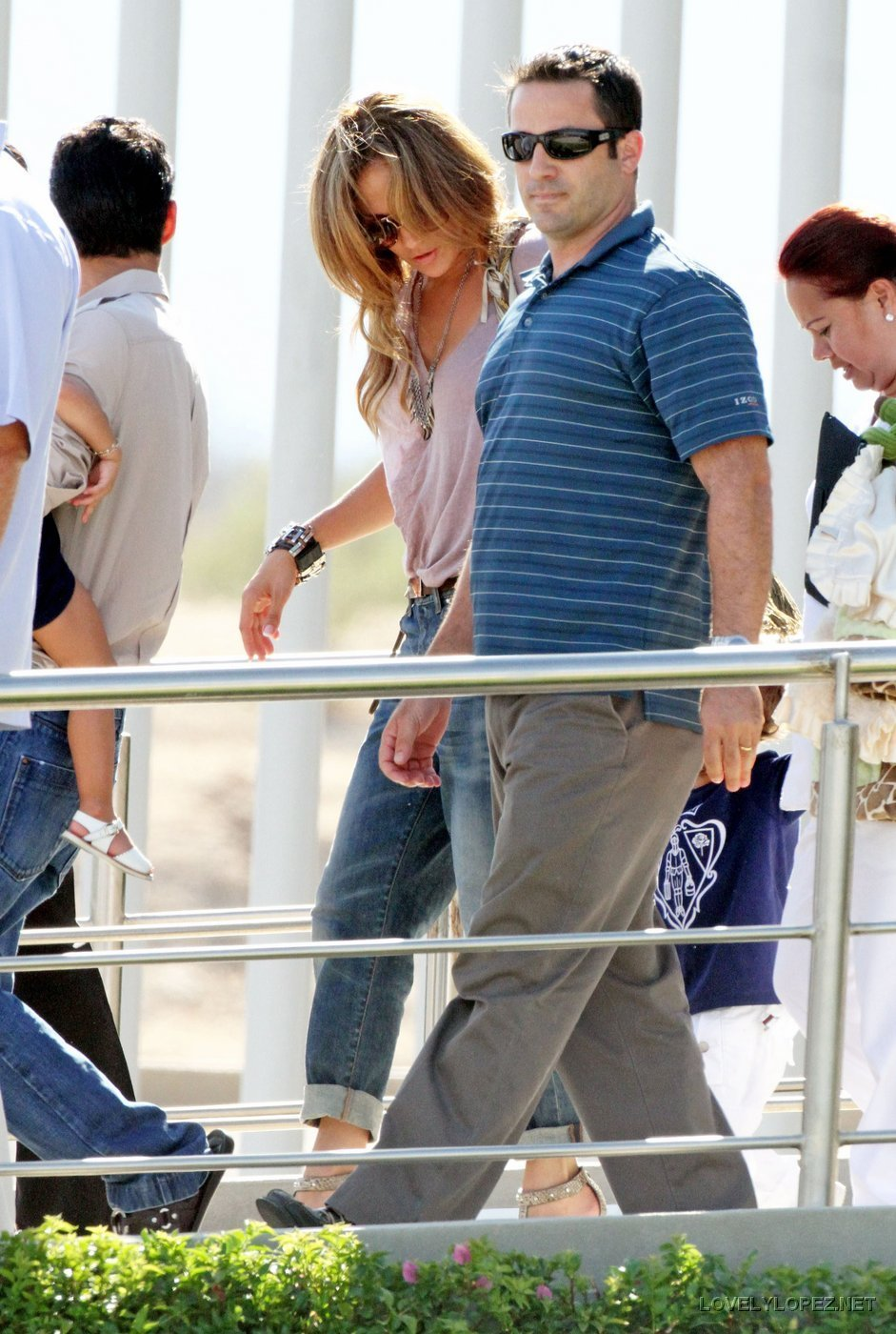 Jennifer arriving in Mexico with her family 7/22/10