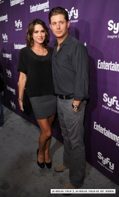 Jensen and Danneel attend EW and Syfy party to celebrate Comic-Con – 24 Jul