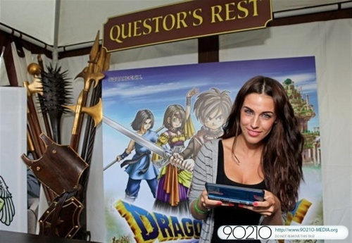 Jessica @ Nintendo's Dragon Quest IX Experience at Wired Cafe