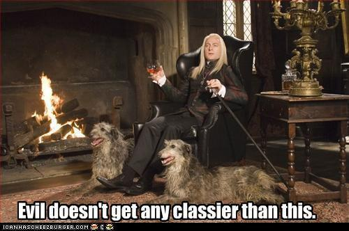 Lucius Malloy... I mean Malfoy.