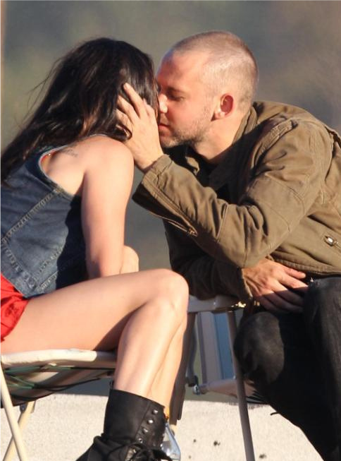 "I'm a big fan of his latest song featuring Rihanna, I LOVE THE WAY YOU LIE! Megan & Dominic on set ""Love The Way You Lie"""