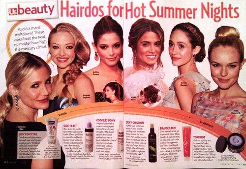 Nikki in 'US' Magazine - Hot Summer Hairstyles