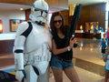Nina Dobrev & A Storm Trooper - Comic Con '10