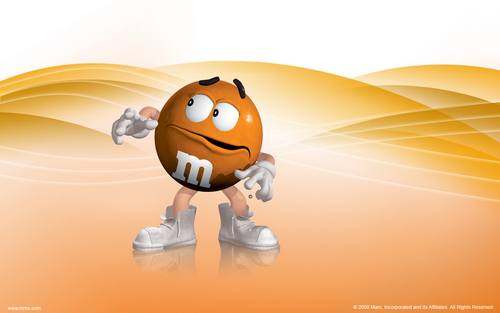 Orange M&M wallpaper