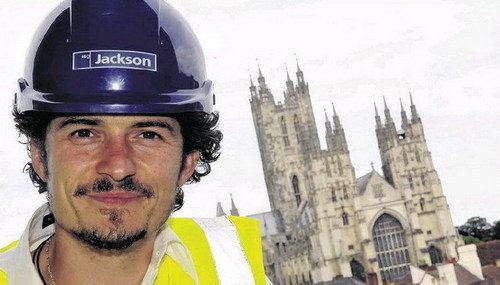 Orlando Bloom at the redevelopment of the Marlowe Theatre in Canterbury (July 13)