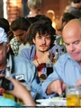 Orlando Bloom watching Spain v Germany Match in Berlin (July 7)