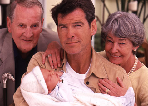 Pierce Brosnan with family