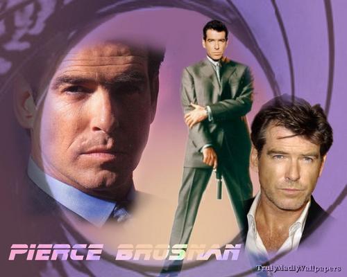 Pierce and 007 Обои