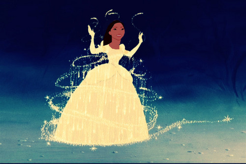 Pocahontas in Cinderella's dress