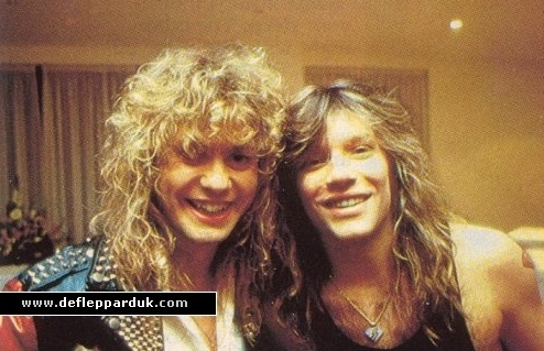 Rick Savage and Jon Bon Jovi