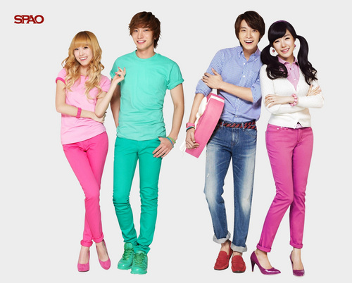 Super Junior پیپر وال titled SPAO Couple