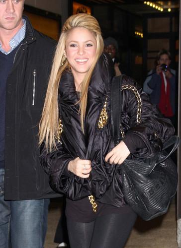 Shakira & Nick Cannon Leaving MTV Studios In NYC
