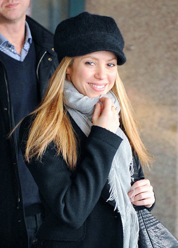 Shakira at Rome Fiumicino Airport