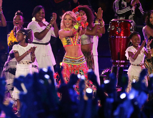 Shakira sings Waka Waka During the World Cup Closing Ceremonies
