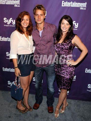 smallville Cast at the EW Syfy Comic-Con party