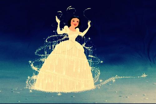 Snow White in Cinderella's dress