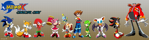 Sonic X - Character Chart