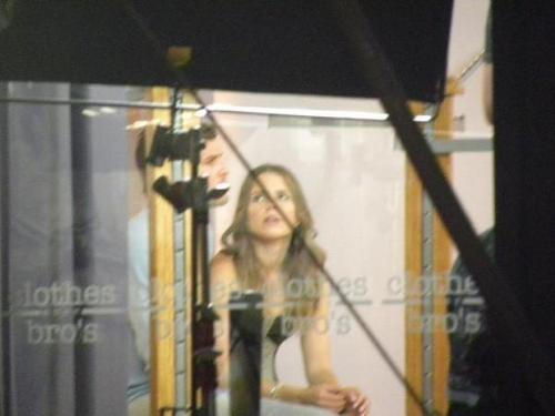 Sophia Bush & Austin Nichols - Filming at C/B