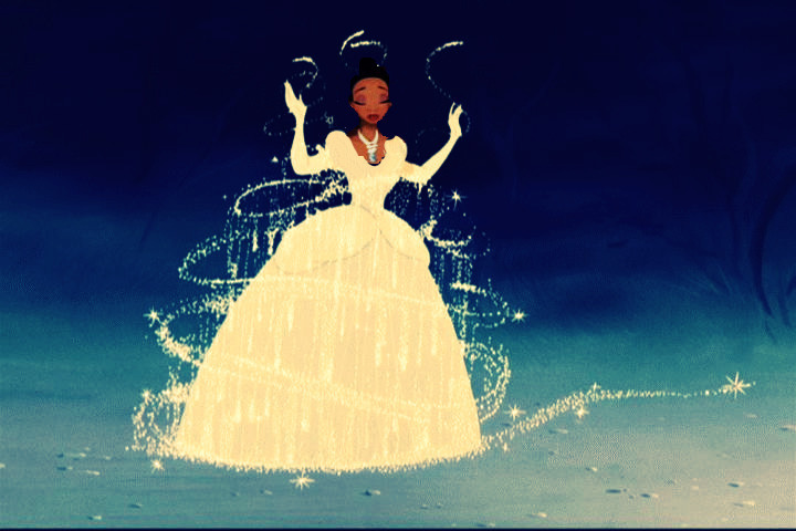 disney princesses dresses. Tiana in Cinderella#39;s dress