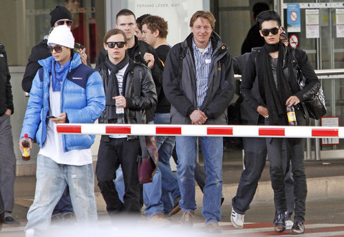 Tokio Hotel Members at the Nice Airport
