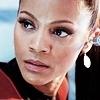 Zoë Saldaña as Uhura photo titled Uhura