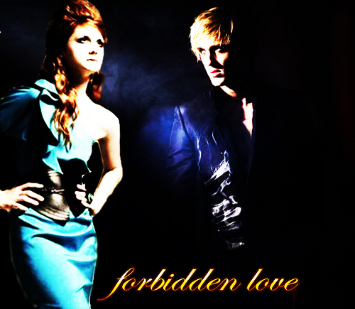 Draco and Ginny wallpaper entitled forbidden love