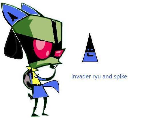 invader ryu and spike