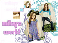 miley world - disney-channel wallpaper