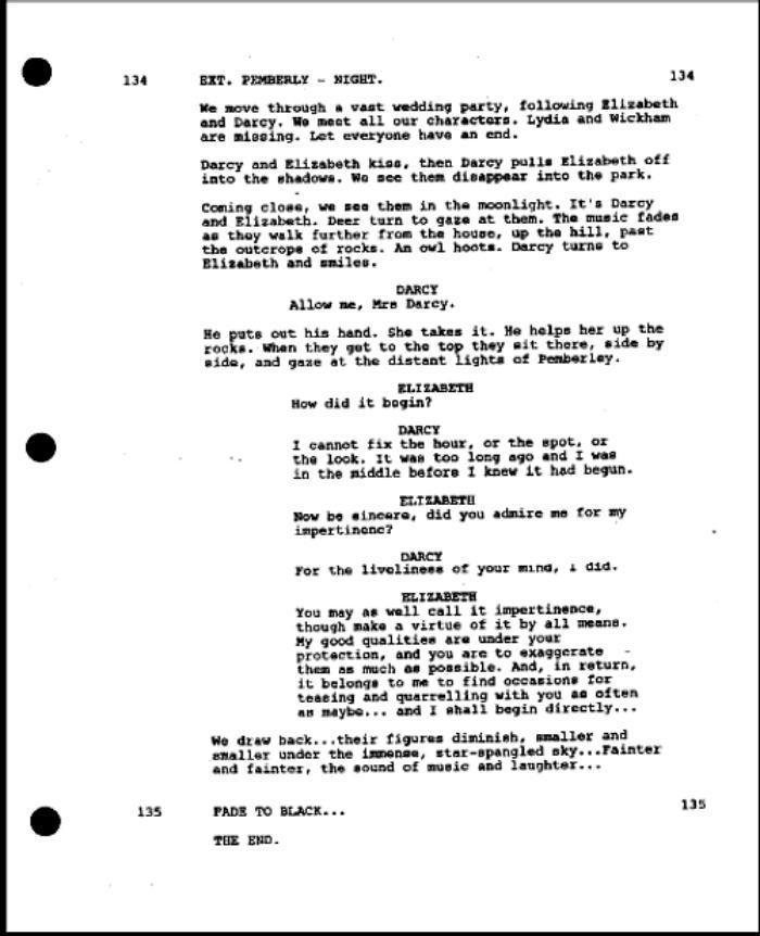 pride and prejudice script pdf