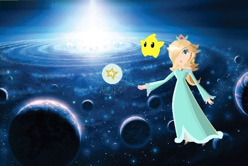 rosalina at the blue galaxy