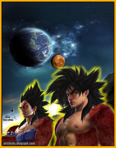 vegeta Goku real ssj 4