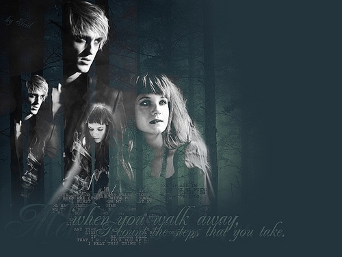 Draco and Ginny wallpaper titled when you walk away..