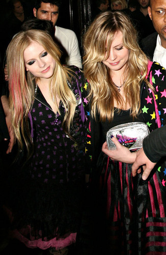 Avril Lavigne Leaving Boujis Nightclub In London