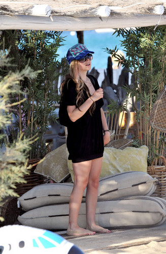Avril Lavigne in St Tropez