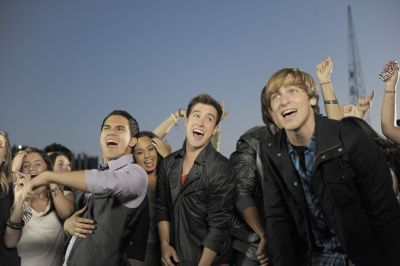 BTR on the set of The City is Ours