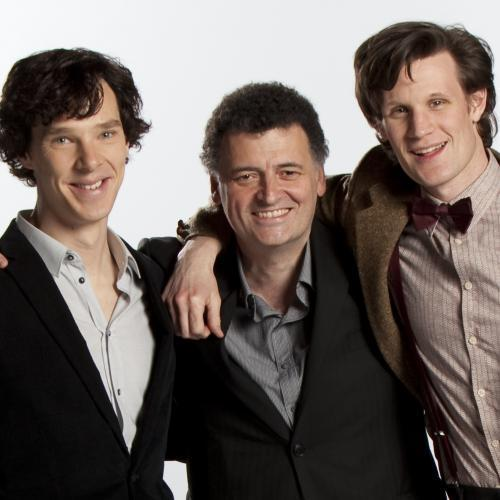 Sherlock in der BBC Hintergrund called Cumberbatch, Moffat & Smith