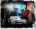 Dean and Impala - dean-winchester wallpaper